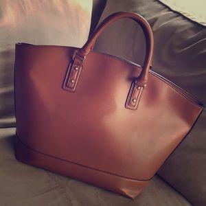 Extra Large Cognac Handbag